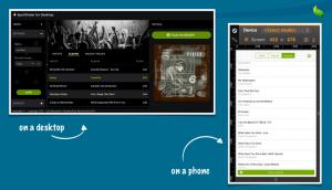 App UI on desktop and phone