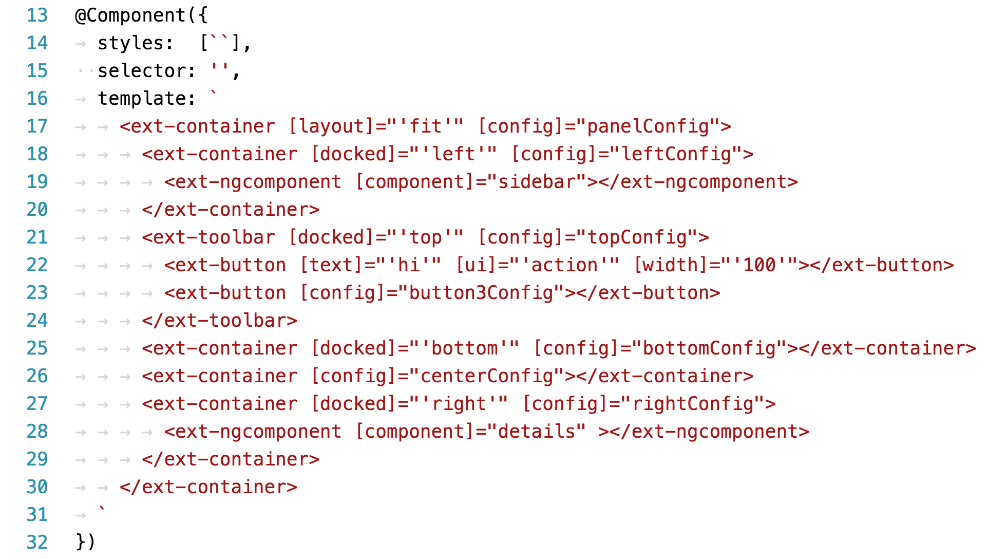 Use the Layout System of Ext JS from Within Your Angular 2 Application