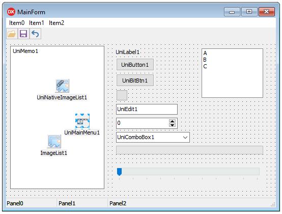 uniGUI Form designer in Delphi IDE