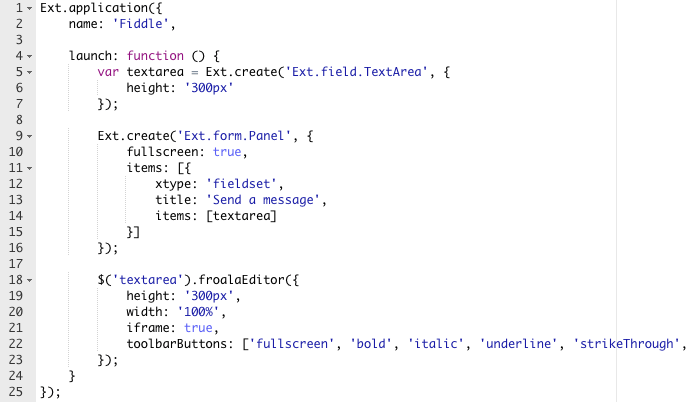 Sencha Fiddle example source
